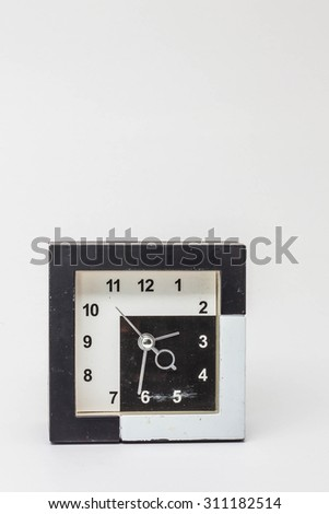 Old clock on isolated of background.