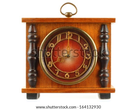Old clock on white background   - stock photo