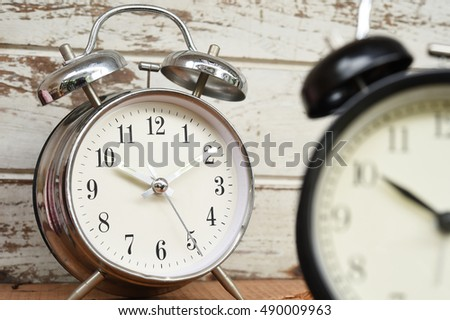 old clock on wood