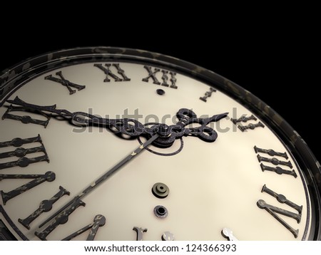 Old Clock Wallpaper Stock Illustration 124366393