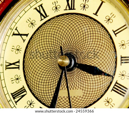 old clock with light effects. photo image - stock photo
