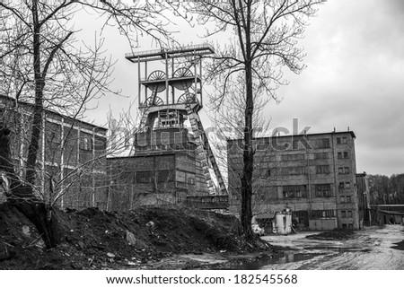 Old coal mine. Silesia Poland - stock photo
