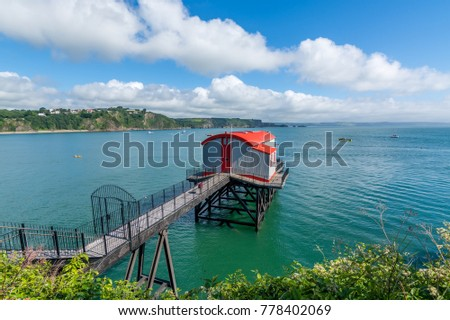 Old coastal lifeboat station at the tourist resort of Tenby, Pembokeshire, Wales.