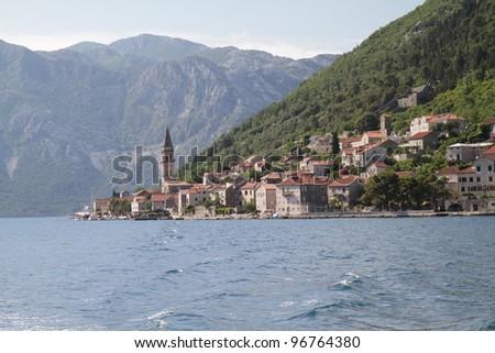 old coastline town in Montenegro - stock photo