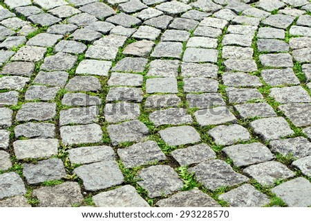 Old cobbles - stock photo