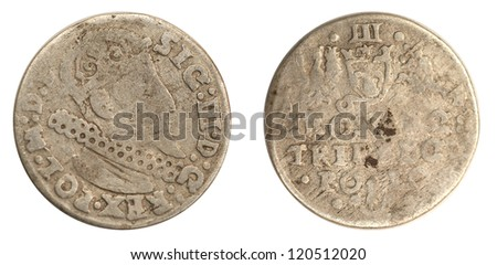 old coins - stock photo
