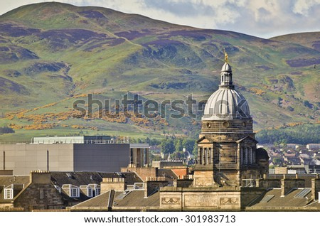 Old College, Edinburgh, and Pentland Hills