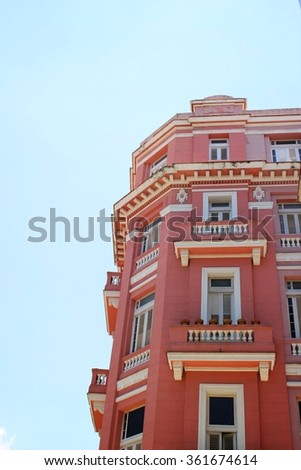 Old Colonial Building in Latin America - stock photo