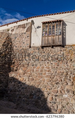 Old colonial building in Potosi, Bolivia