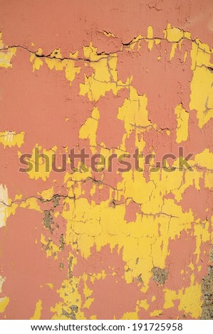 Old Colored Vintage Peeling Texture Painted Wall Pattern