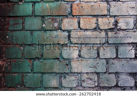 Old colorful brick wall.  - stock photo