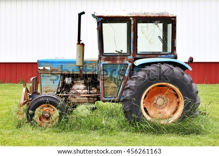Old Colorful Farm Tractor
