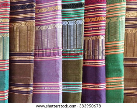 Old colorful Laos Silk