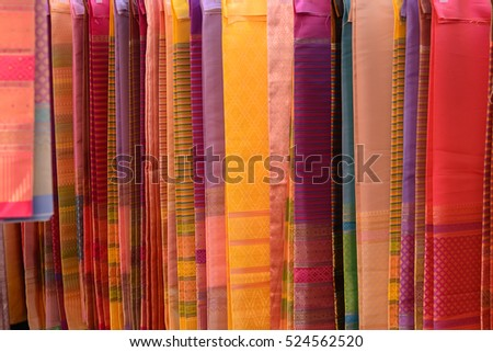 Old colorful Thai Silk