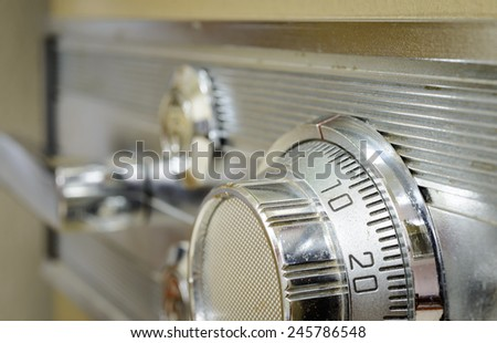 Old combination safe lock - stock photo