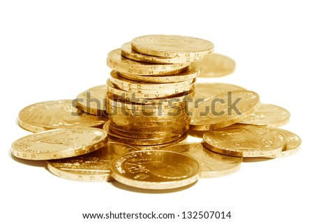 Old commemorative coins of the Soviet Union - stock photo
