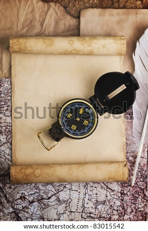 old compass on grunge background