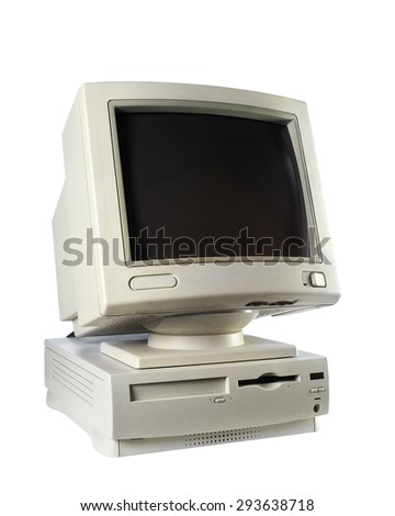 Old computers - stock photo