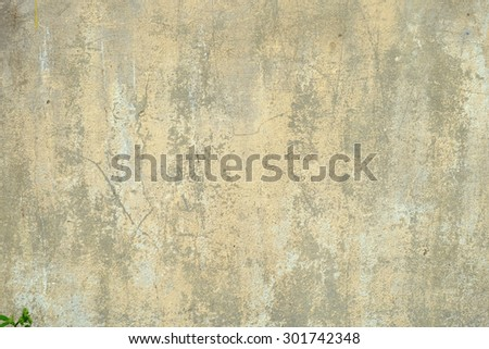 Old, concrete, beige gray wall with cracks, scuffed and spots on it, background texture