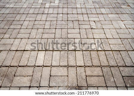 Old concrete blocks in the walkway   - stock photo