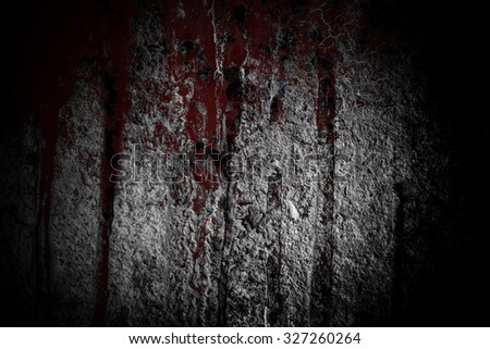 Old concrete wall grunge background,Halloween red blood grunge old wall background.