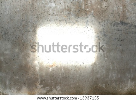 old concrete wall with a space to write - stock photo