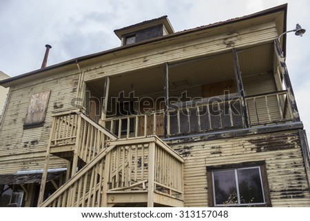 Old Condemned Building - stock photo