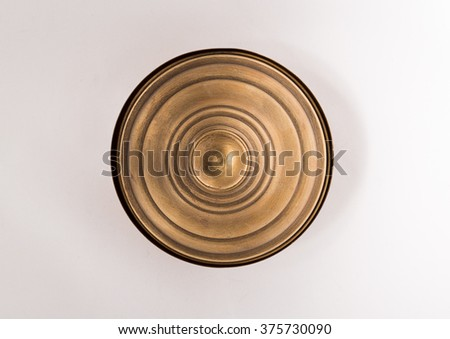 old copper pot. cooker, bowl. - stock photo