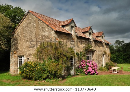 Old cottage in France. - stock photo
