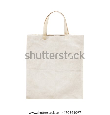 Old cotton bag isolated on white isolated background