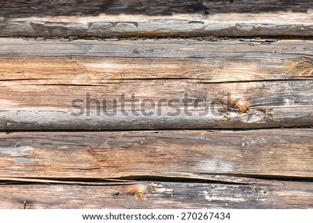 old countryside house wooden wall details and close-up - stock photo