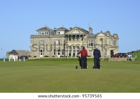 Old Course at St Andrews is the oldest golf course in the world, a public course over common land in St Andrews, Fife, Scotland