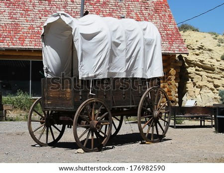 Old Covered Wagon,  - stock photo