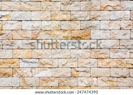 old cracked brick stones wall background - stock photo