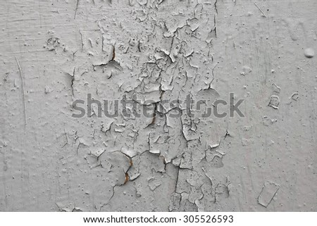 old cracked paint on metal plate