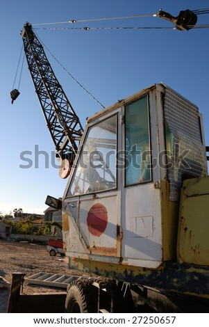 Old Crane on a building site in Croatia