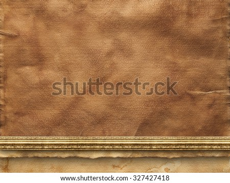 Old creased paper sheet - stock photo