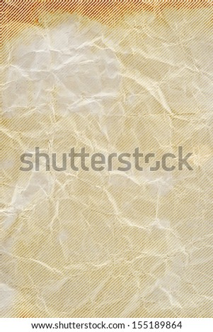 Old crumpled brown paper - stock photo