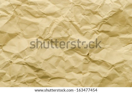 Old Crumpled paper as background - stock photo
