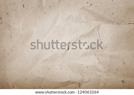 Old crumpled paper texture - stock photo