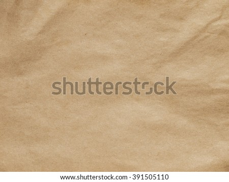 old crumpled paper texture - brown paper sheet - stock photo