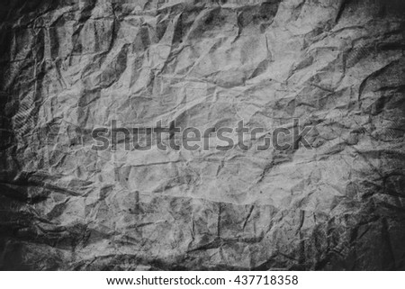 Old crumpled paper texture, crumpled paper, paper texture background - stock photo