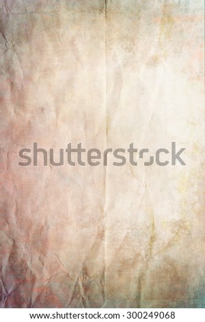old crumpled paper texture or background with pastel tones