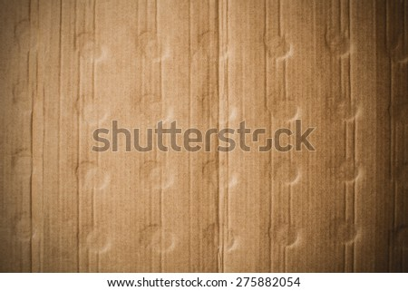 Old crumpled, recycled brown paper texture - stock photo