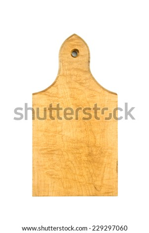 old cutting board isolated  - stock photo