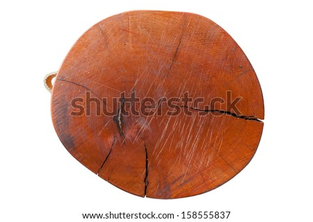 Old Cutting boards on white background