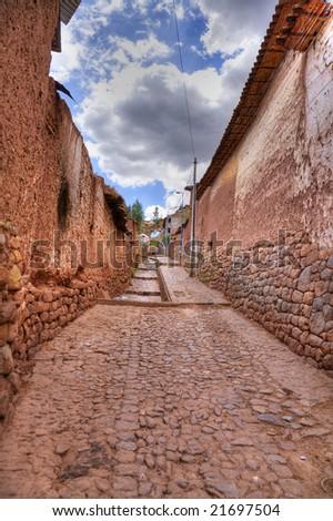 Old Cuzco street - stock photo