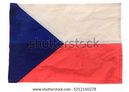 old czech flag as nice national background