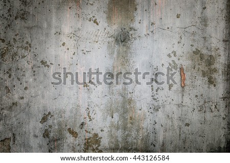 Old damaged concrete wall as background - stock photo