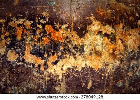 Old damaged grunge wall background - stock photo